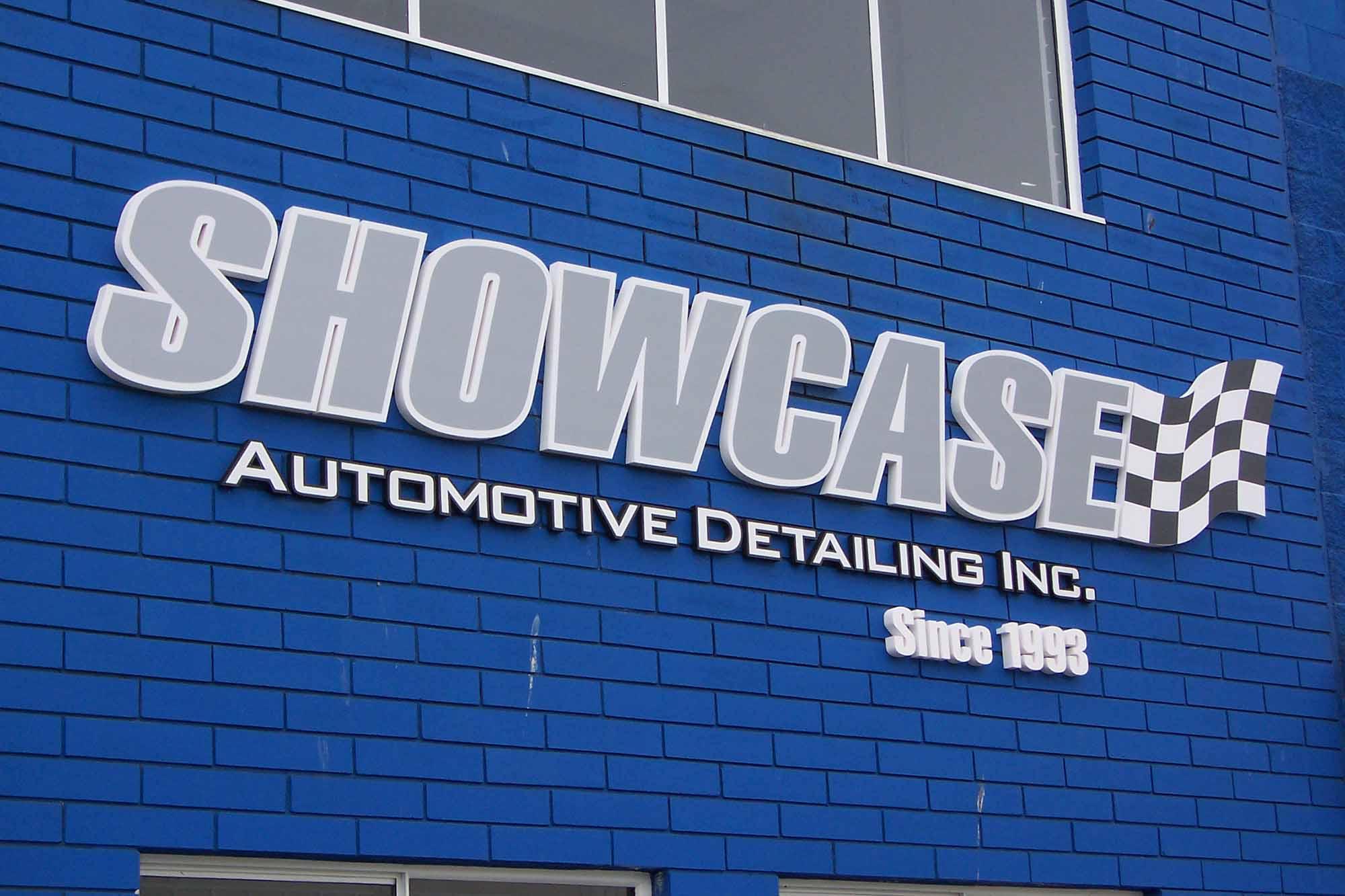 Showcase auto store front on brick