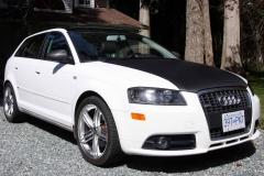 Audi carbon fibre hood